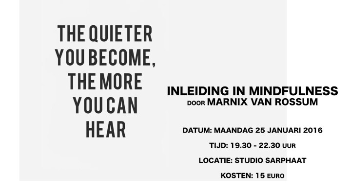 workshop inleiding mindfulness
