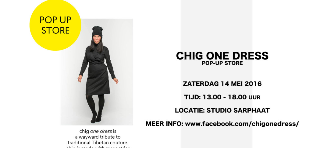 CHIG ONE DRESS pop-up store in studio sarphaat