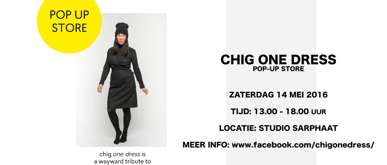 CHIG ONE DRESS pop-up store in studio sarphaat