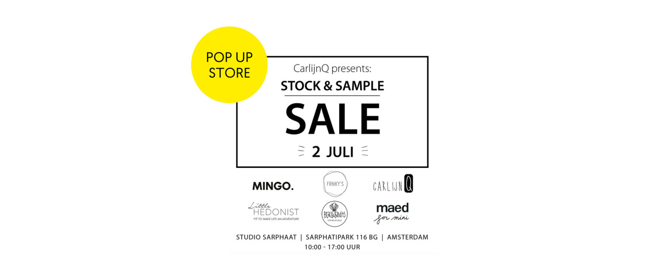 CARLIJNQ & FRIENDS pop-up store in studio sarphaat