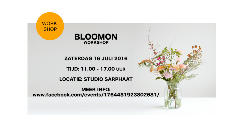 BLOOMON workshop in Studio Sarphaat