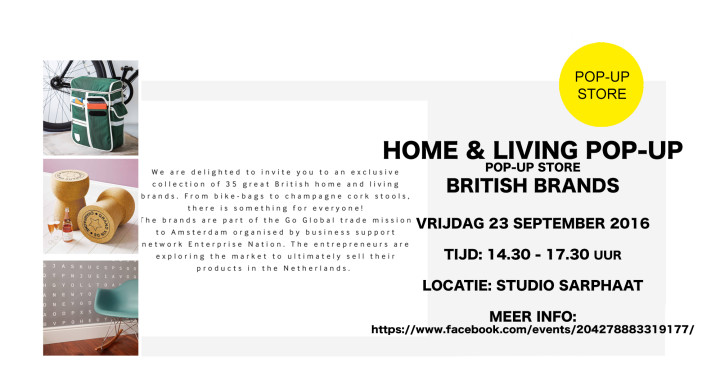 HOME & LIVING pop-up store in studio sarphaat
