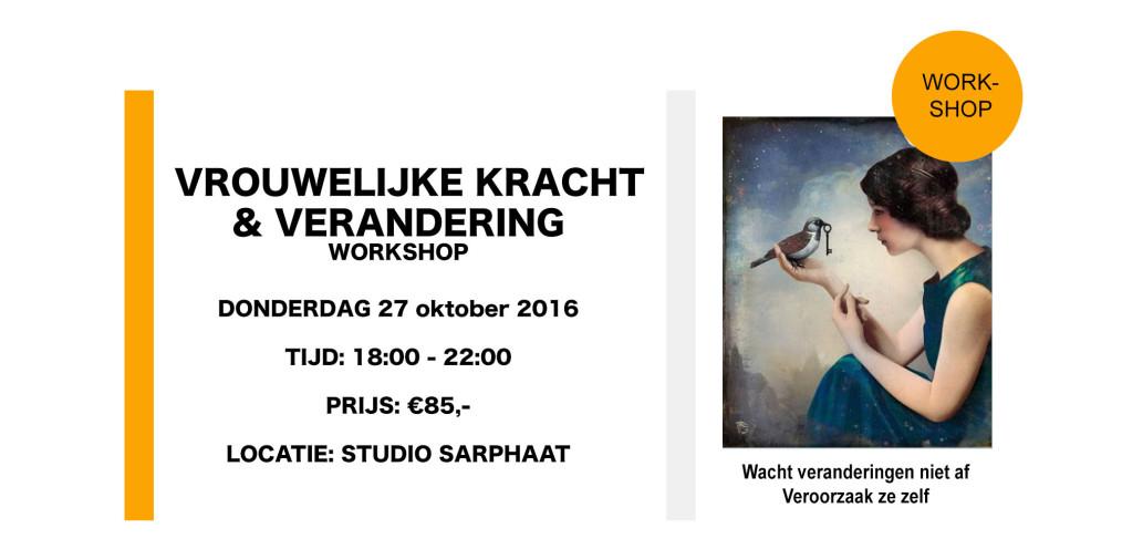 vrouwelijke kracht en verandering workshop in Studio Sarphaat