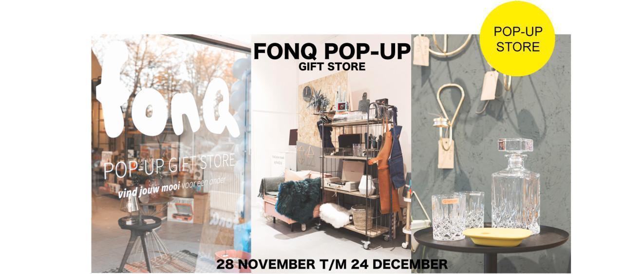 FONQ pop-up gift shop in Studio Sarphaat