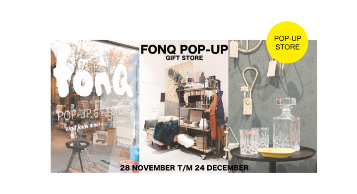 FONQ pop-up gift shop in Studio Sarphaat