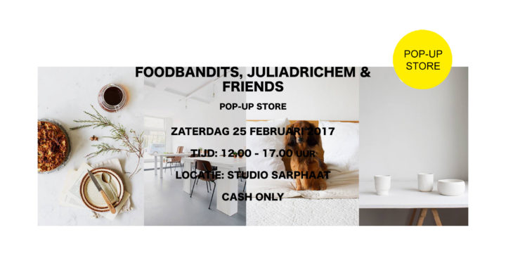 FOODBANDITS pop-up store in studio sarphaat
