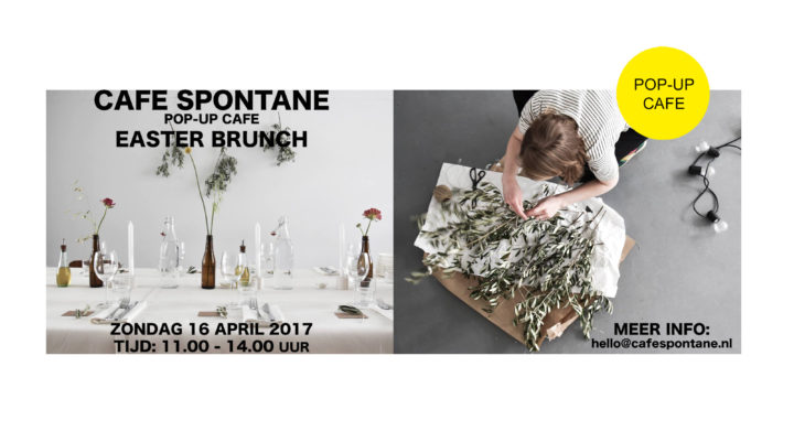 CAFE SPONTANE pop-up cafe in studio sarphaat